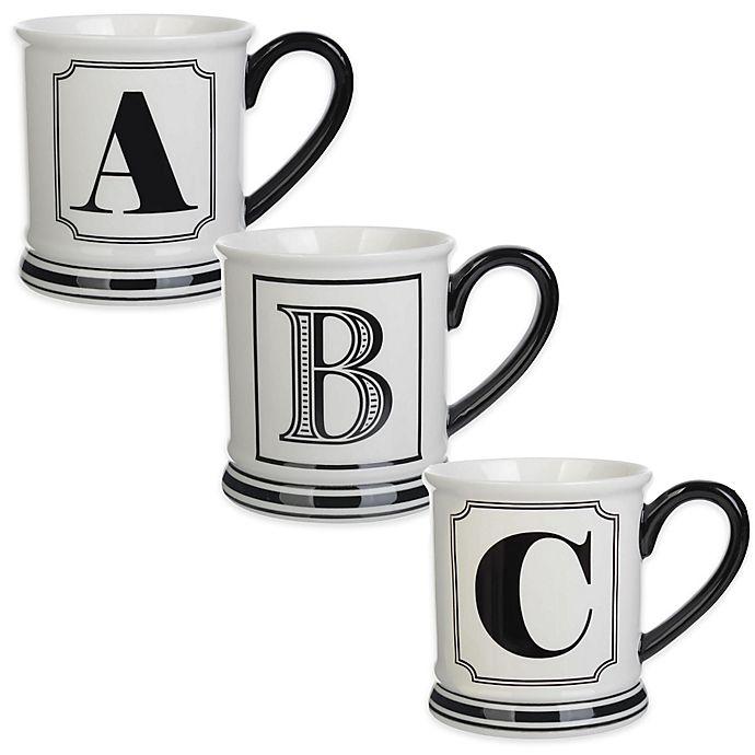 Alternate image 1 for Formations Block Letter Monogram Mug