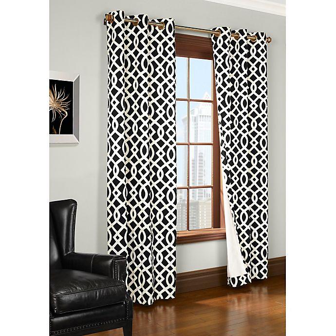 Alternate image 1 for Trellis Room-Darkening Grommet Top Window Curtain Panels