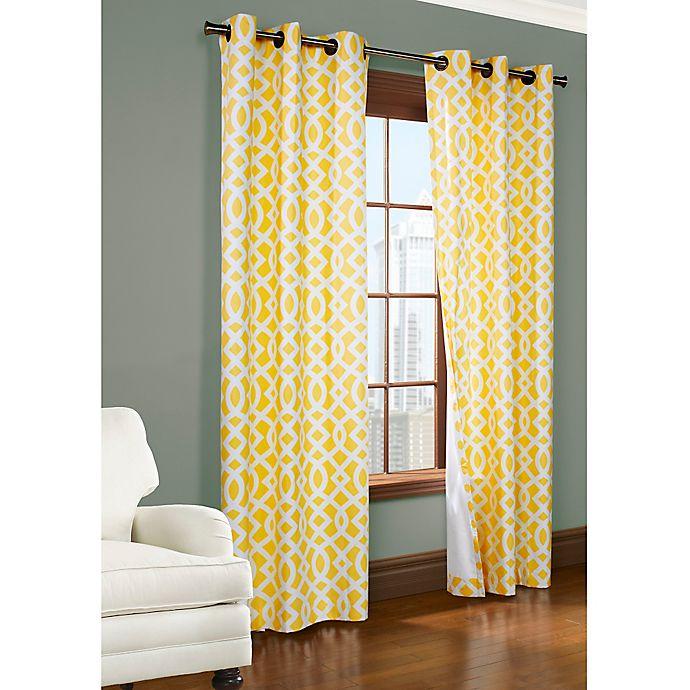 Alternate image 1 for 72-Inch Room-Darkening Grommet Window Curtain Panels in Yellow