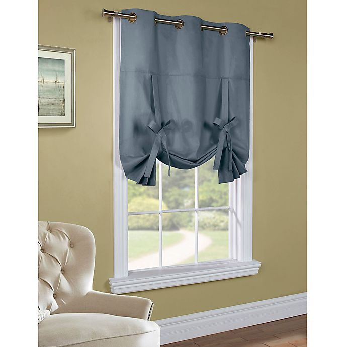 Alternate image 1 for 63-Inch Room-Darkening Grommet Top Tie-Up Window Curtain Panel