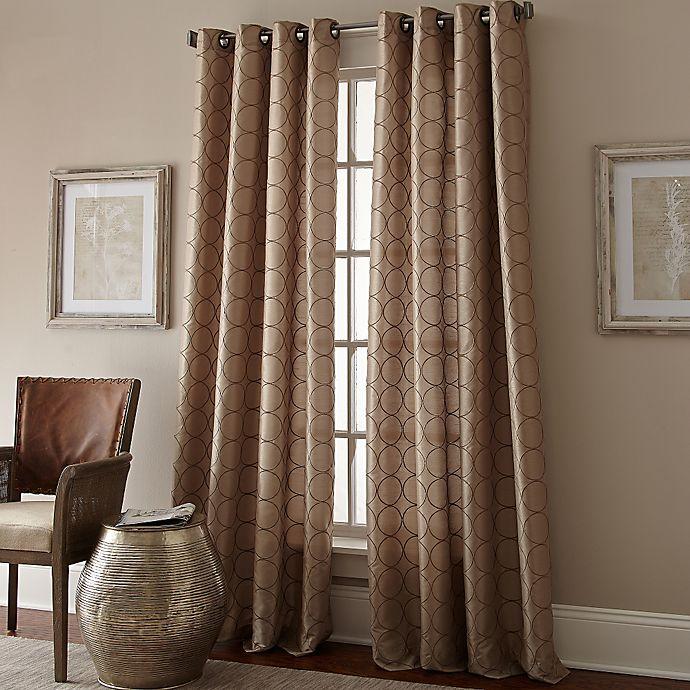 Buy Manhattan 84 Inch Grommet Top Window Curtain Panel In