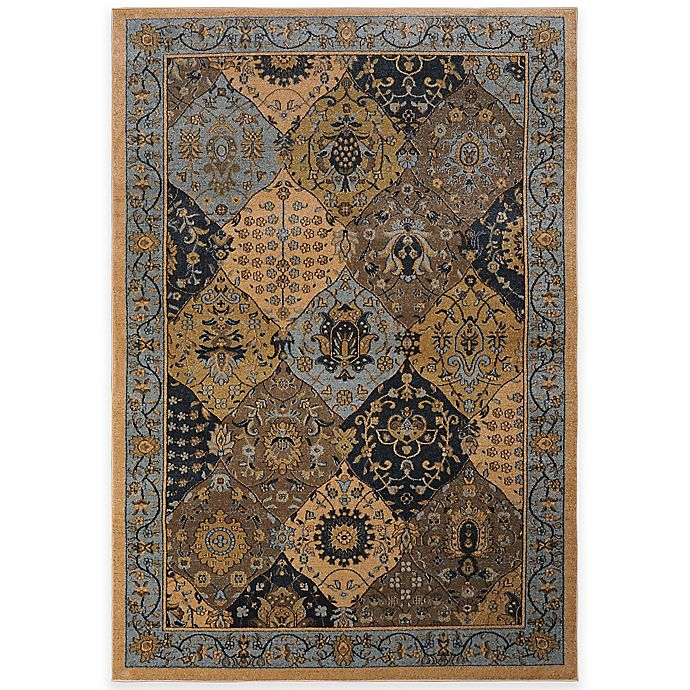 Bed Bath And Beyond Area Rugs Roselawnlutheran Earth Tone: Antique Heat Set Rug In Blue