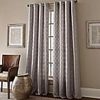 Manhattan 63-Inch Grommet Top Embroidered Window Curtain Panel in Grey