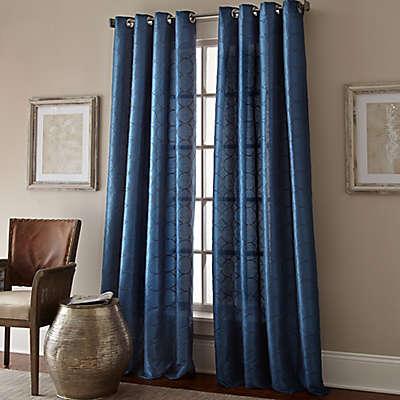 Manhattan Grommet Top Embroidered Window Curtain Panel