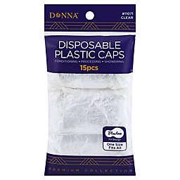 Donna Disposable Plastic Caps (Set of 15)