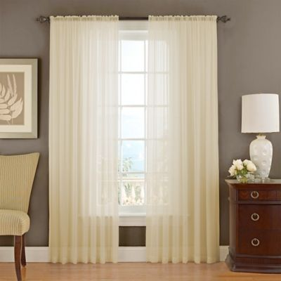 Vue Signature Textured Chiffon Window Curtain Panel Bed