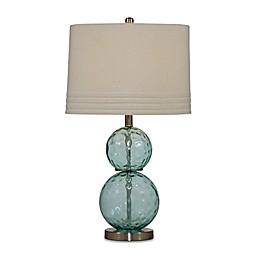 Bassett Mirror Company Barika Table Lamp in Mist with Fabric Shade
