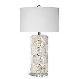 Bassett Mirror Company Shell Table Lamp in Cream