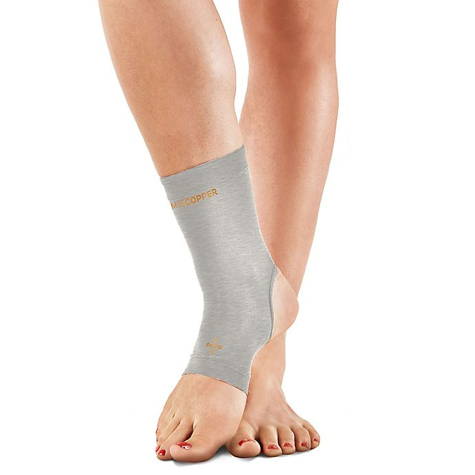 4832d4c0dd1e5c Tommie Copper Women's Compression Ankle Sleeve in Silver   Bed Bath ...