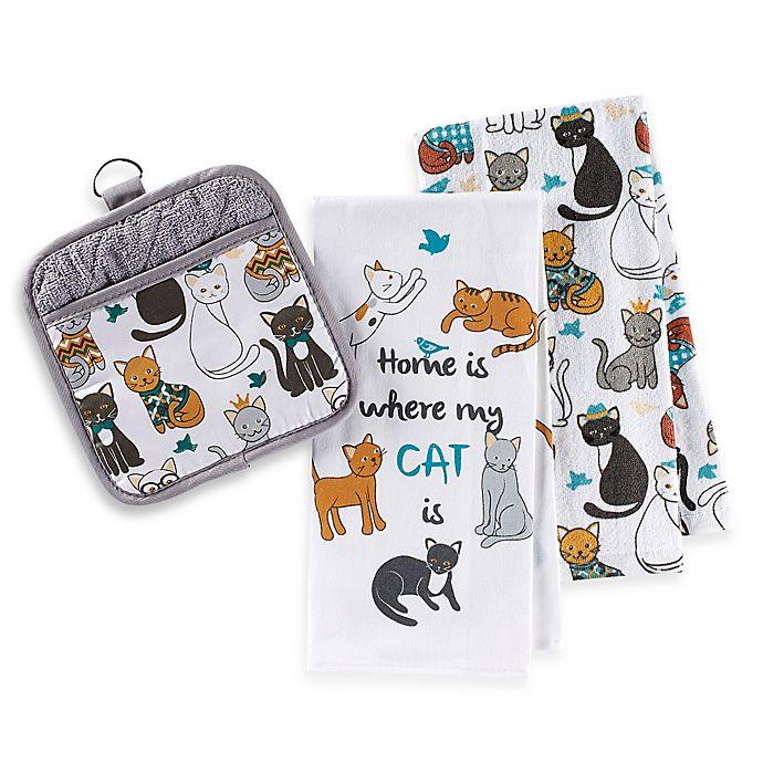 Alternate image 1 for Sam Hedaya Cat Couture Kitchen Linens