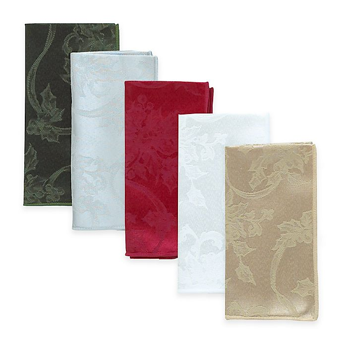 Alternate image 1 for Christmas Ribbons Napkins (Set of 4)