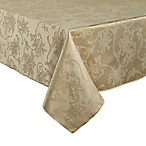 Christmas Ribbons 60-Inch x 84-Inch Oblong Tablecloth in Gold