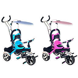 Lil' Rider 2-in-1 Stroller Tricycle Child-Safe Trike Trainer