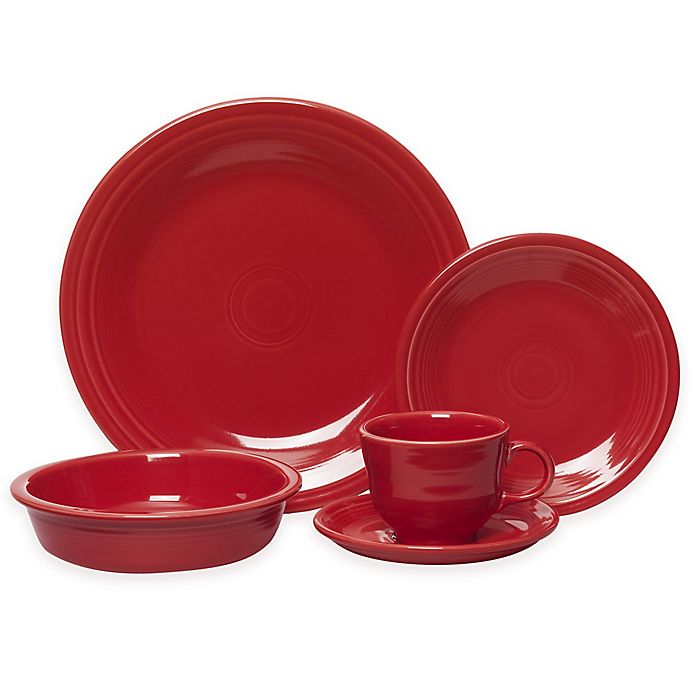 Alternate image 1 for Fiesta® 5-Piece Place Setting in Scarlet