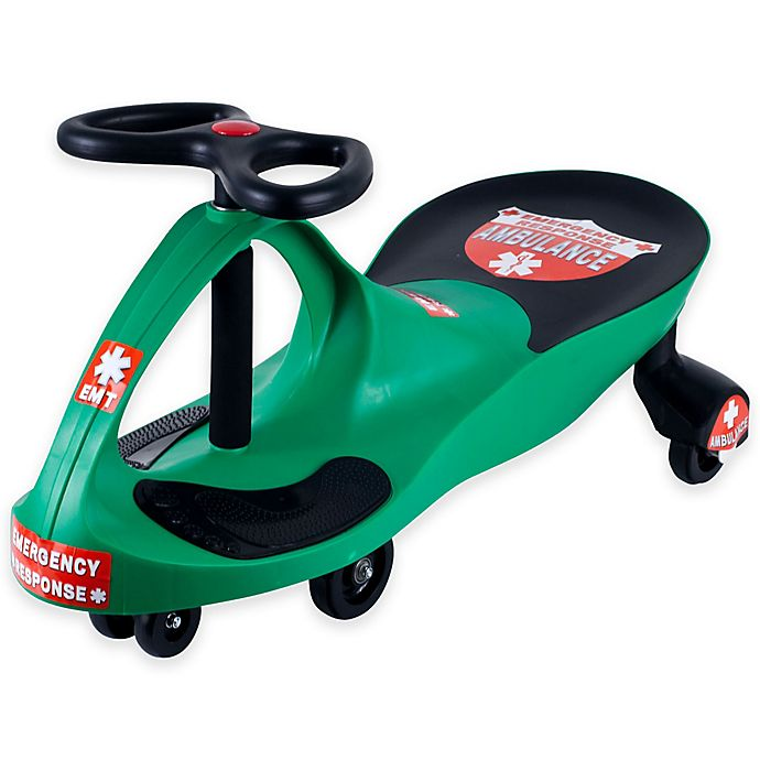 Alternate image 1 for Lil' Rider Responder Ambulance Wiggle Ride-On Car in Green