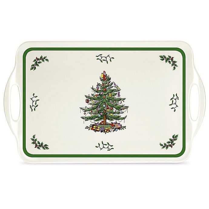 Alternate image 1 for Spode® Pimpernel Christmas Tree 15-Inch Sandwich Tray