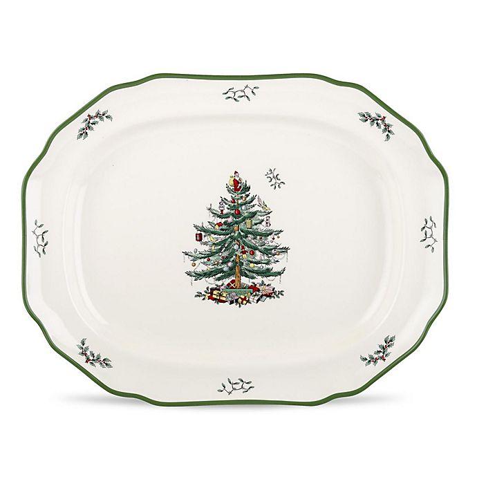 Alternate image 1 for Spode® Christmas Tree 19-Inch Sculpted Platter