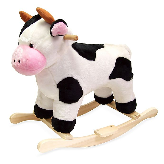 Alternate image 1 for Happy Trails Plush Rocking Cow