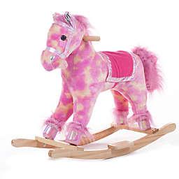 Happy Trails Pink Plush Rocking Pony