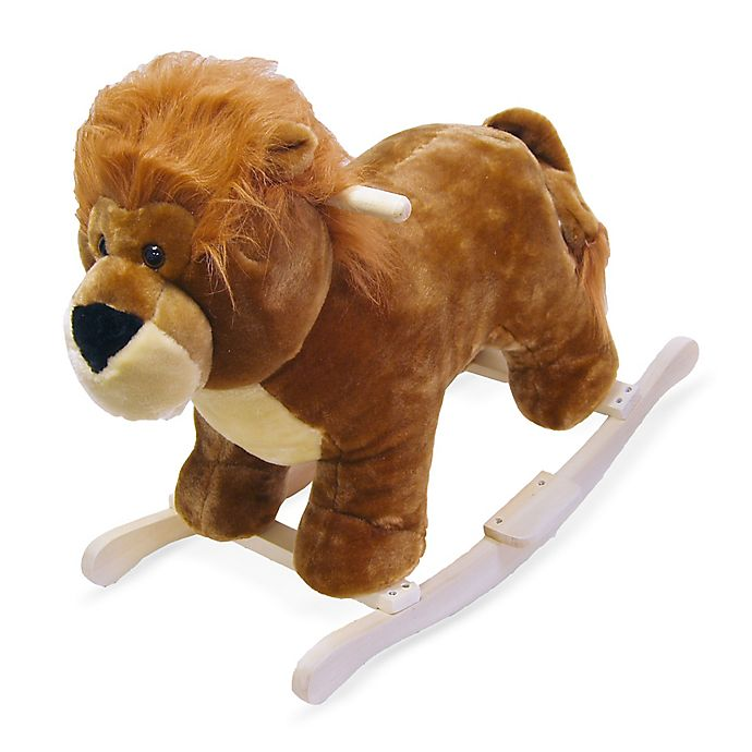 Alternate image 1 for Happy Trails Plush Rocking Lion