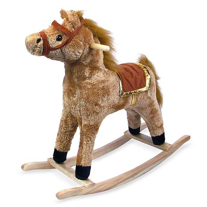 Alternate image 1 for Happy Trails Plush Rocking Horse