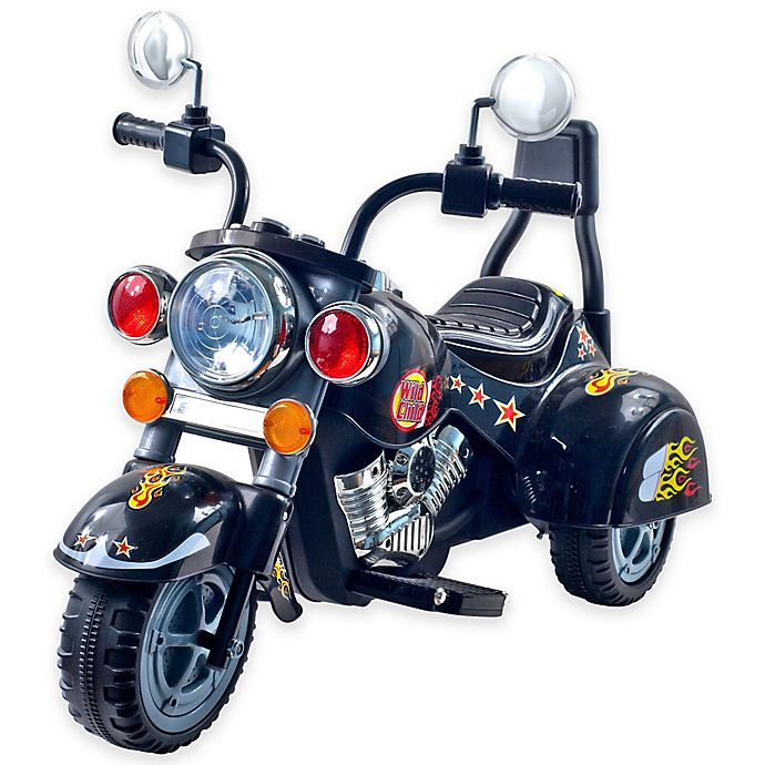 Alternate image 1 for Lil' Rider Road Warrior Motorcycle in Black