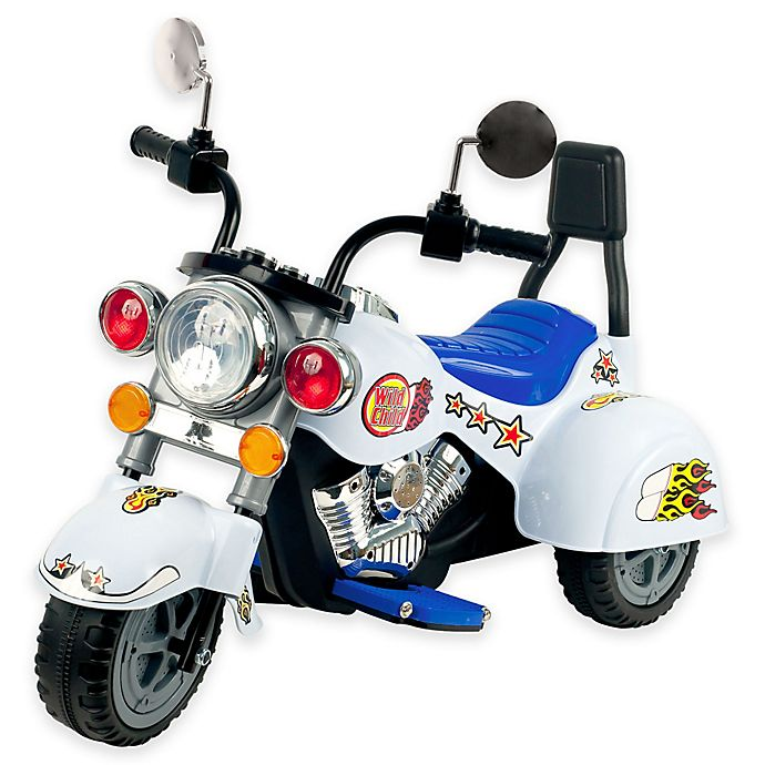 Alternate image 1 for Lil' Rider White Knight 3-Wheeler Ride-On Motorcycle