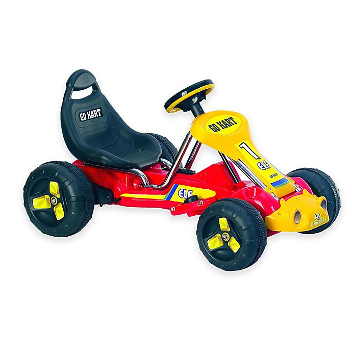 Alternate image 1 for Lil' Rider Racer Battery-Powered Go-Kart in Red
