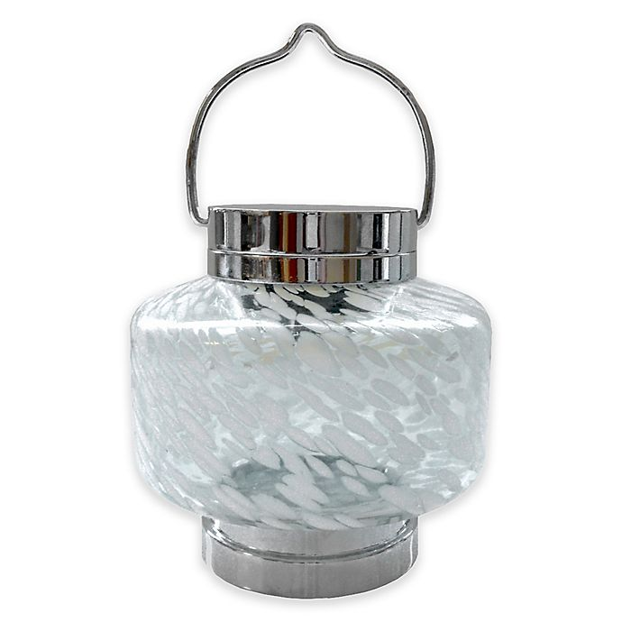 Alternate image 1 for Allsop® Square Solar Boaters Lantern in White