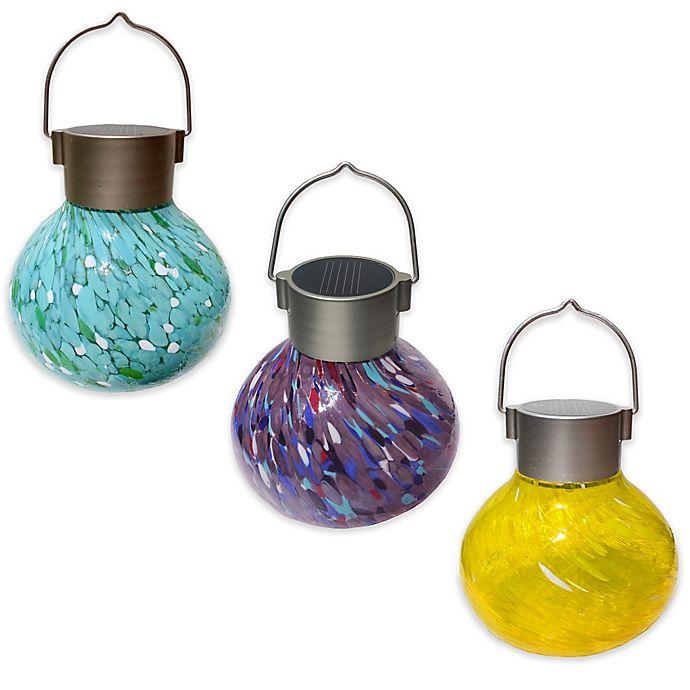 Alternate image 1 for Allsop® Hanging Outdoor Solar Tea Lantern
