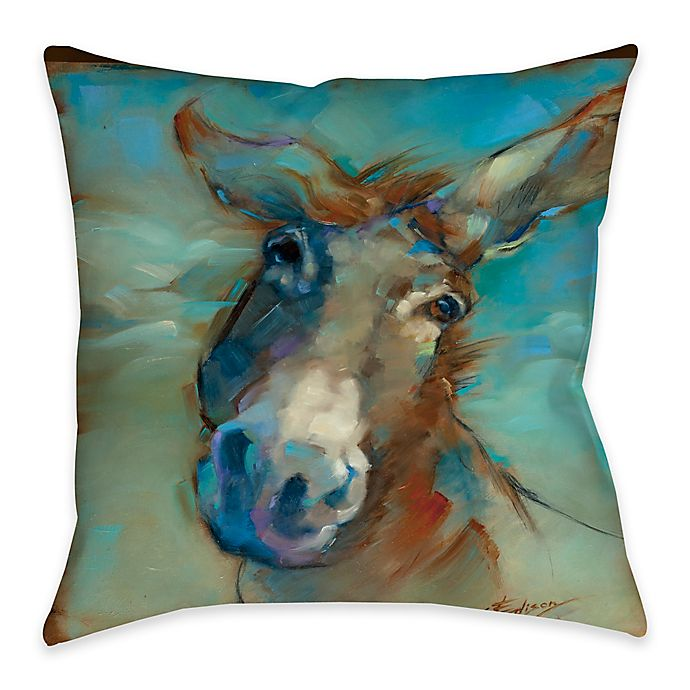 Alternate image 1 for Here I am Indoor/Outdoor Throw Pillow