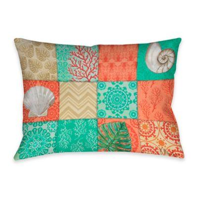 Coastal Chic Indoor Outdoor Throw Pillow In Multi Bed
