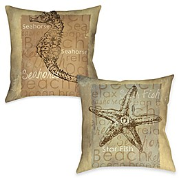 Sea Life Indoor/Outdoor Throw Pillow Collection