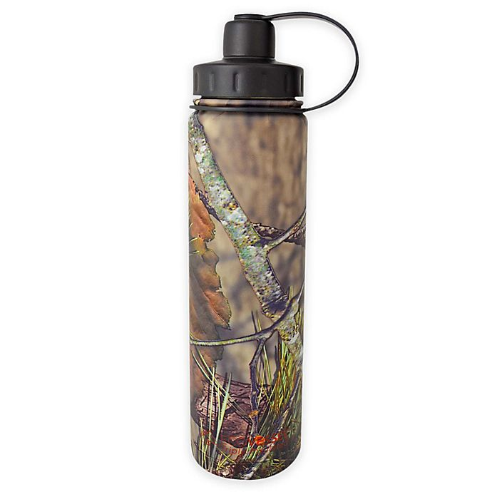 Alternate image 1 for Eco Vessel® BOULDER 24 oz. Insulated Stainless Steel Water Bottle in Mossy Oak Camouflage