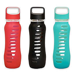 Eco Vessel® SURF 22 oz. Glass Water Bottle with Silicone Sleeve