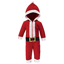 Hudson Baby® Santa Hooded Fleece Jumpsuit