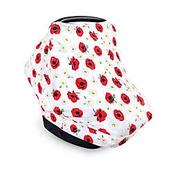 Hudson Baby® Poppy Daisy Car Seat Canopy in White/Red
