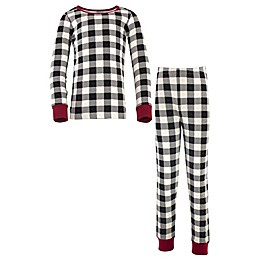 Touched by Nature® 2-Piece Tight Fit Long Sleeve Plaid Pajama Set in