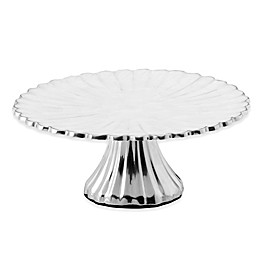 Julia Knight® Peony 10-Inch Footed Cake Stand in Snow