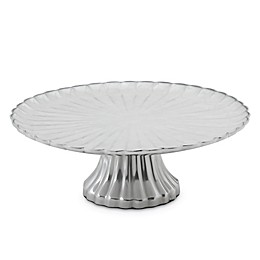 Julia Knight® Peony 14-Inch Footed Cake Stand in Snow