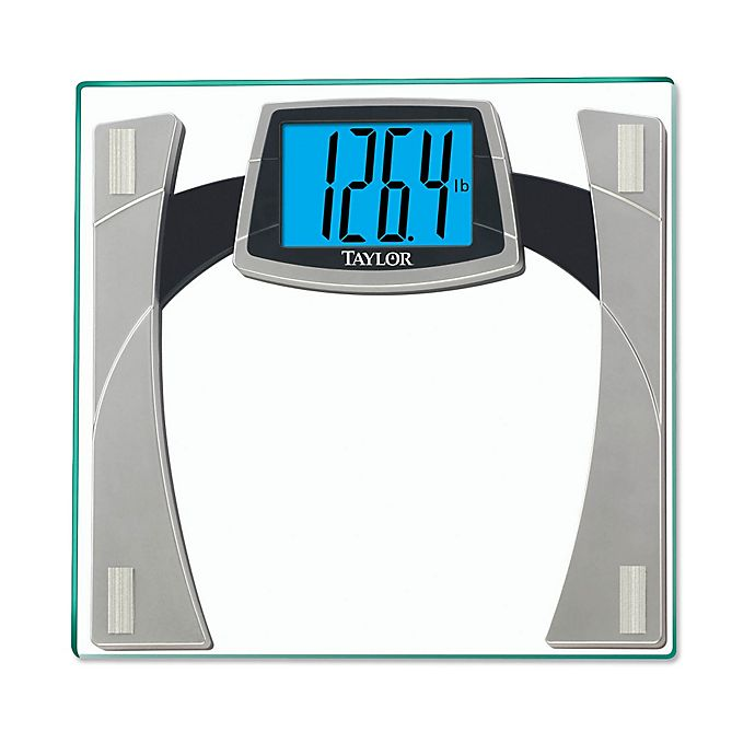 Taylor Digital Glass Bathroom Scale With Large Readout In