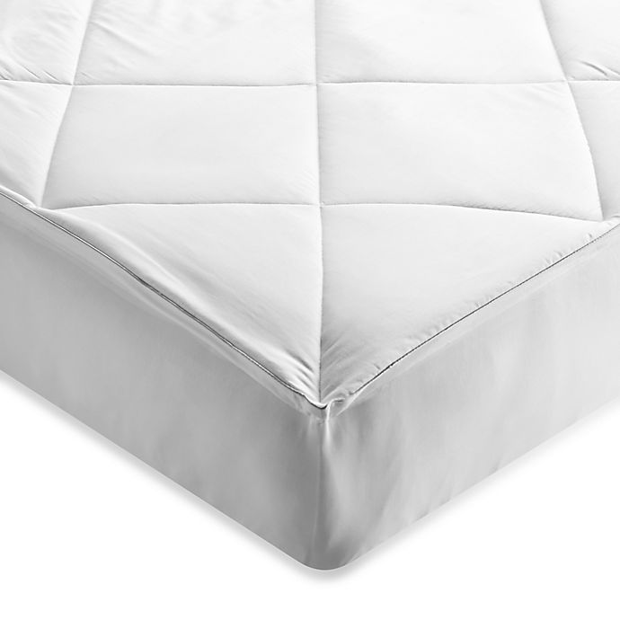 Alternate image 1 for Brookstone® Outlast Queen Temperature Regulating Mattress Pad in White