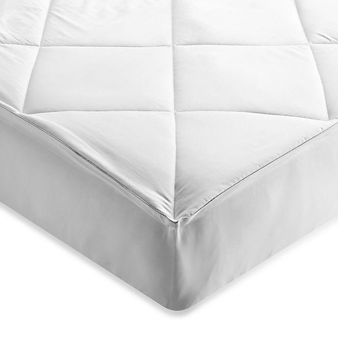 Alternate image 1 for Brookstone® Outlast Temperature Regulating Mattress Pad in White