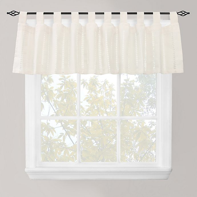 Eyelet Tab Top Window Valance In Ivory