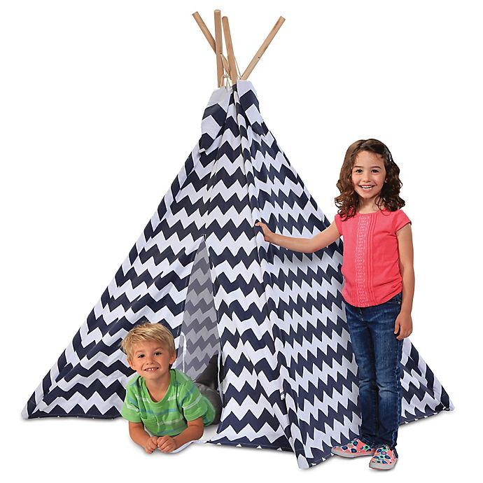 Alternate image 1 for Discovery Kids™ Wood and Canvas Play Teepee