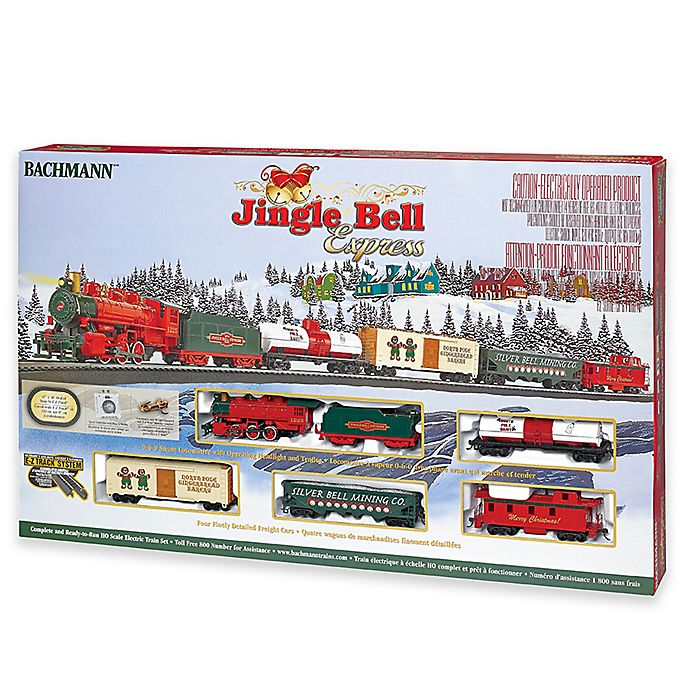 Alternate image 1 for Bachmann Trains Jingle Bell Express HO Scale Ready to Run Electric Train Set