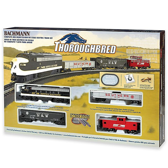 Alternate image 1 for Thoroughbred HO Scale Electric Train Set