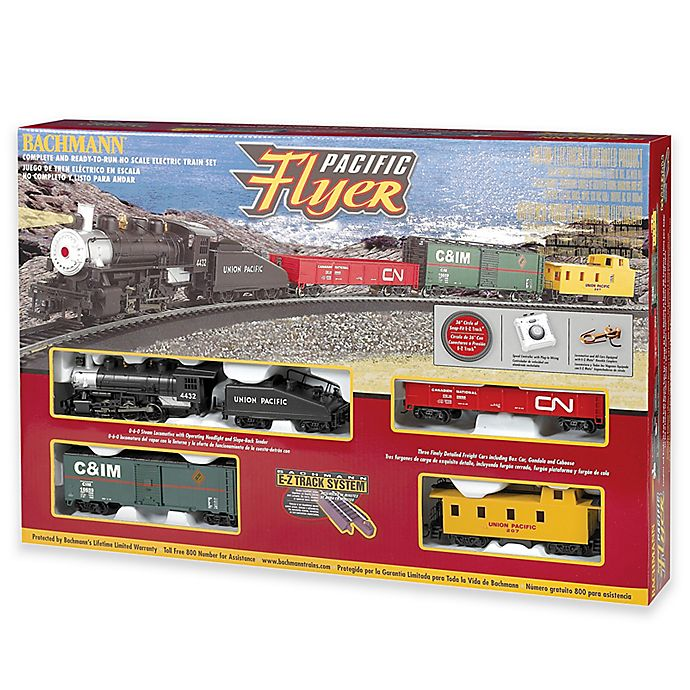 Alternate image 1 for Pacific Flyer HO Scale Electric Train Set