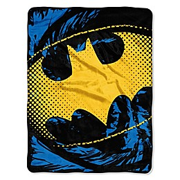 DC Comics Batman Shield Micro-Raschel Throw