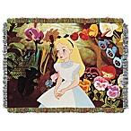 Disney® Alice in Wonderland  Alice in the Garden  Tapestry Throw